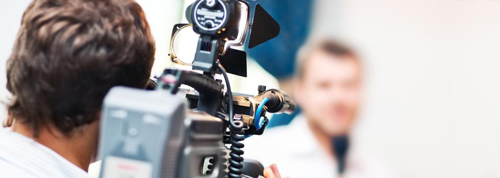 Kameramann bei Aufnahmen